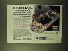 1986 Hurricane Fun Deck Fisherman Boat Ad