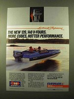 1985 Evinrude 120 Outboard Motor Ad - More Cubes