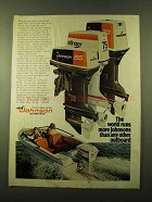 1976 Johnson 55, 70 and 75 Outboard Motors Ad
