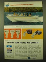 1967 Chrysler Courier 229 Boat Ad - Comes Through