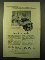1925 General Motors Ad - Beirut to Bagdad