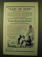 1923 American Express Travel Dept. Ad - East of Suez