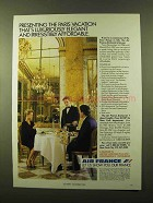 1986 Air France Ad - Paris Vacation Luxuriously Elegant