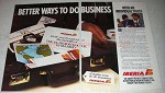 1986 Iberia Airlines Ad - Better Ways to Do Business