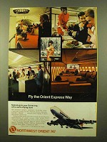 1971 Northwest Orient Airlines Ad - Fly Orient Express