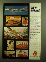 1970 Northwest Orient Airlines Ad - 747s Anyone?