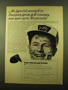 1970 Trans International Airlines Ad - Golf Courses
