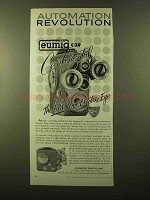 1958 Eumig C3R Movie Camera Ad - Revolution