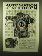 1958 Eumig C3R Movie Camera Ad - Automation