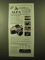 1958 Alpa Camera and Lenses Ad - The All-in-One