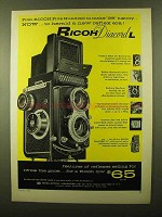 1958 Ricoh Diacord L Camera Ad - Herald New Reflex Era