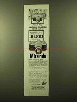 1958 Miranda Camera and Lenses Ad - Compatible!