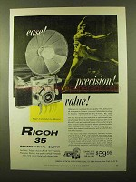 1957 Ricoh 35 Camera Ad - Ease! Precision! Value!