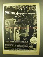 1957 Eumig C3 and Electric Movie Camera Ad