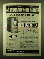 1957 Eumig Electric Movie Camera Ad - Ends Winding