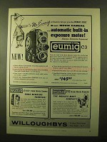1957 Eumig C3 Movie Camera Ad - Built-in Meter