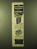 1957 Sekonic L-8 and Clip-On Meters Ad - Mastery