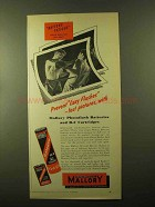 1957 Mallory Photoflash Batteries and B-C Cartridges Ad