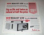 1957 Realist 620 Projector Ad - Big as Life and Natural