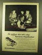 1956 Sylvania Flashbulbs Ad - Pictures Tell a Story