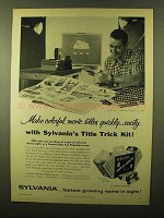 1956 Sylvania Projection Lamp and Movie Lights Ad