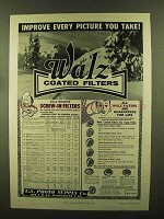 1956 Walz Coated Filters Ad - Improve Every Picture