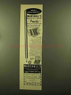 1956 Marshall's Photo-Oil Colors Ad - Exclusive!