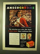 1956 Ansco Anscochrome Color Film Ad - Great Year
