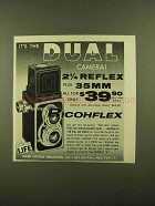 1956 Ricoh Super Ricohflex Camera Ad - It's The Dual