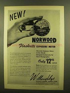 1953 Norwood Flashrite Exposure Meter Ad
