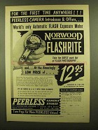 1953 Norwood Flashrite Exposure Meter Ad - First Time