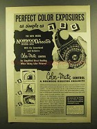 1953 Norwood Director Exposure meter Ad - Perfect Color