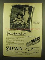 1953 Sylvania Flashbulbs Ad - Pictures That Stand Out