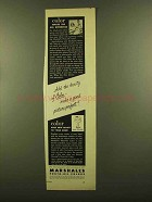 1953 Marshall's Photo-Oil Colors Ad - Makes Difference