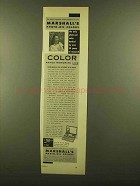 1953 Marshall's Photo-Oil Colors Ad - 30 Years Research