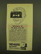 1953 View-Master Personal Stereo Camera Ad - See It