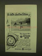 1951 General Electric PR-1 Exposure Meter Ad - Vacation