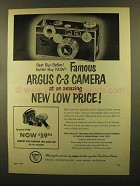 1950 Argus C-3 Camera Ad - Best Buy Before