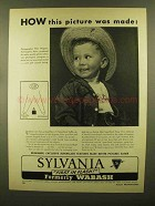 1950 Sylvania Superflash Bulbs Ad - How Picture Made