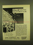 1950 Ciro 35 Camera Ad - So Much for So Little
