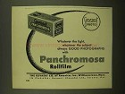 1950 Gevaert Panchromosa Rollfilm Ad - Whatever Light