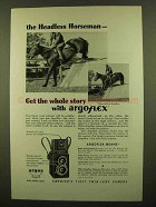 1946 Argus Argoflex Camera Ad - Headless Horseman