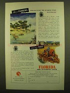 1946 Florida Tourism Ad - What The Sunshine State Has