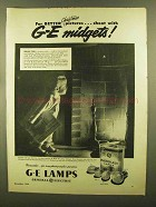 1945 General Electric Photoflash Lamps Ad - Christmas