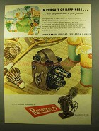 1945 Revere Movie Cameras and Projectors Ad - Happiness