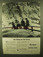 1944 Ansco Brovira Paper Ad - No Sitting on the Fence