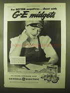 1944 General Electric Mazda Photoflash Lamps Ad - NICE!