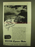 1943 Weston Exposure Meter Ad - Squall on the Columbia