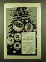1929 DeVry Cameras and Projectors Ad