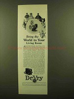 1928 DeVry Movie Cameras and Projectors Ad - World